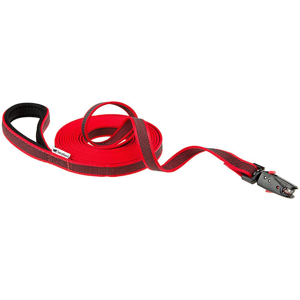 Ferplast Поводок для собак с автоматическим магнитным карабином, Ferplast DAYTONA GUMMY MATIC G20/500, из прорезиненного нейлона, красный DAYTONA_GUMMY_MATIC-1-1.jpg