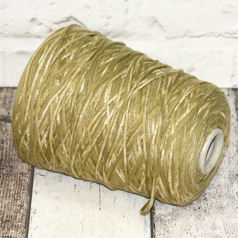 Хлопковый шнурок CASA DEL FILATO / VULCANO 200 горчичный неоднородный