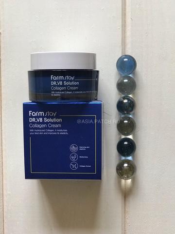 Крем с коллагеном FarmStay Dr-V8 Solution Collagen Cream, 50 мл