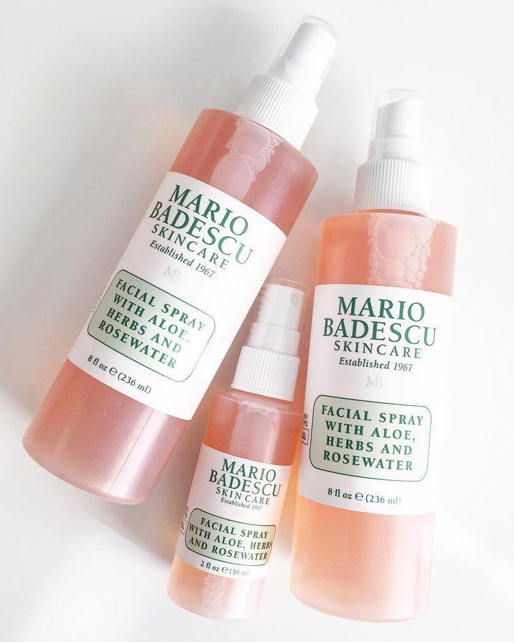 Спрей для лица Mario Badescu with aloe, herbs and rosewater розовый 59 мл