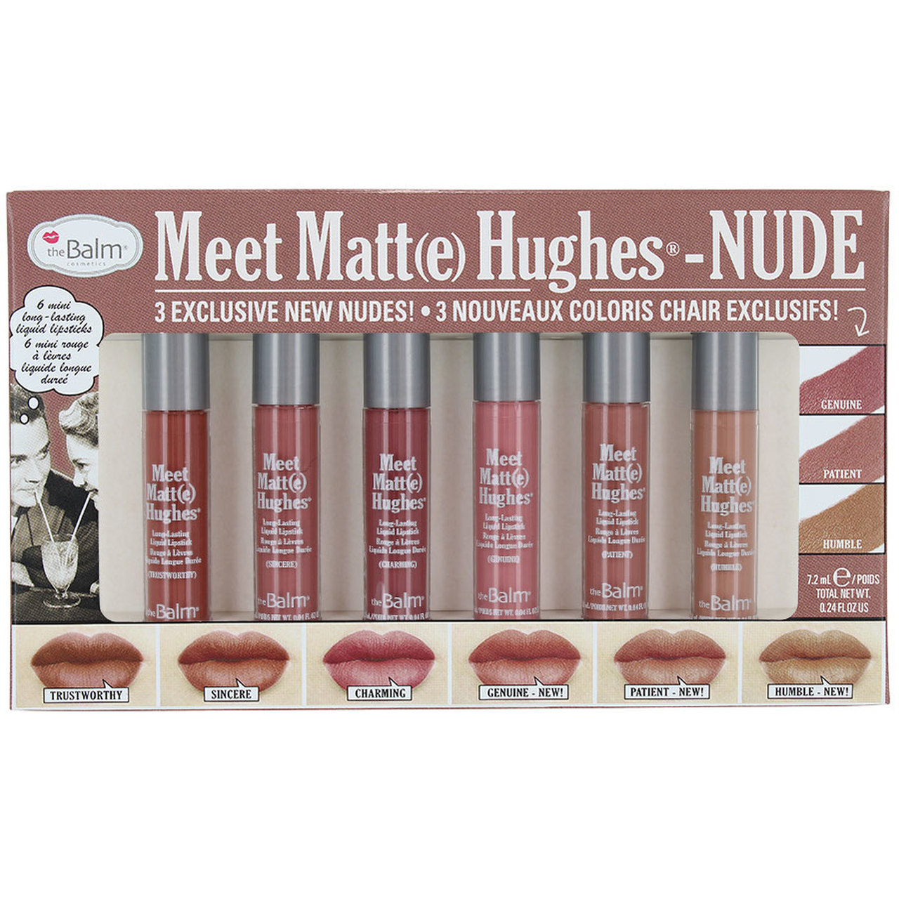Набор помад The Balm Meet Matte Hughes Nude