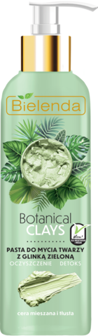 BOTANICAL CLAYS веганская очищающая паста для лица с зелёной глиной 190 г