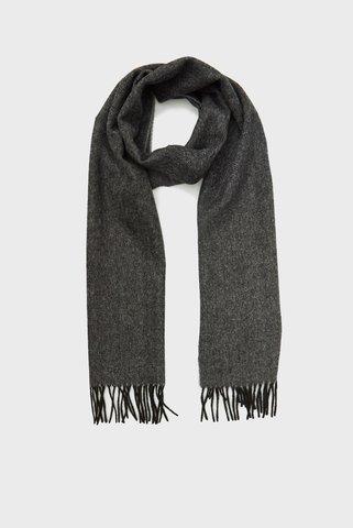 Мужской серый шерстяной шарф Tommy Hilfiger