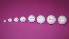 054-6237 Шар из пенопласта (6 см), 3 шт.