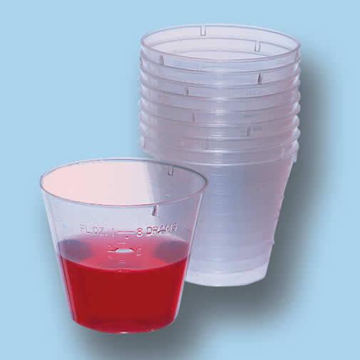 СТАКАНЧИКИ 30 ml.  Прозрачные, с мерными делениями.