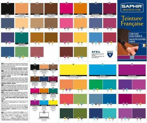 Универсальная краска для кожи Saphir Teinture francaise, 1000мл. (5 цветов)