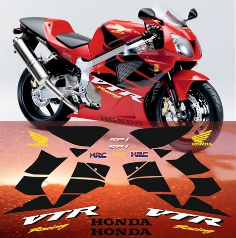 Набор виниловых наклеек на мотоцикл HONDA VTR 1000 SP-1 2000