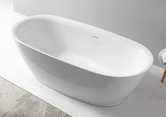 Акриловая ванна ABBER AB9205 180х84 см отдельностоящая