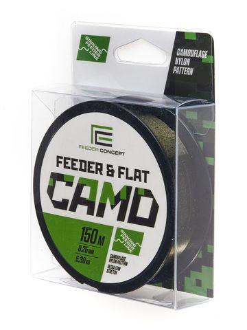 Леска монофильная Feeder Concept FEEDER&FLAT Camo 150м, 0.25мм