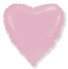 F 9''/23см, Мини-сердце, Розовый / 5 шт. /