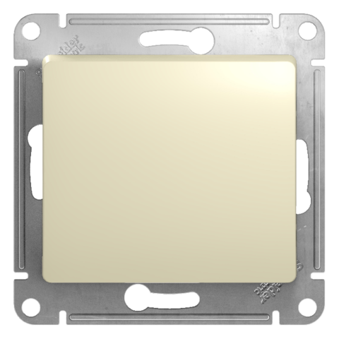 Перекрестный переключатель, 10АХ. Цвет Бежевый. Schneider Electric Glossa. GSL000271