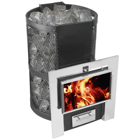 Печь-каменка Кольчуга 9-14 (каминный экран)