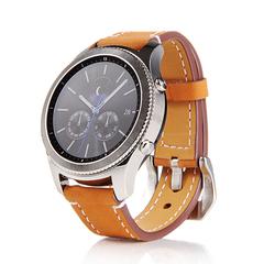Ремешок для часов Samsung Gear S3 кожаный (коричневый)