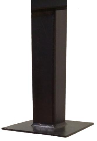 Столб 2,0 метра для забора квадратный 40х40