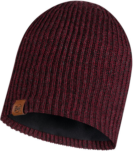 Шапка вязаная с флисом Buff Hat Knitted Polar Lyne Maroon фото 1