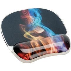 Коврик для компьютерной мыши с гелевой подкладкой для руки Fellowes FS-92040 Радужный дым