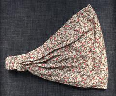 Повязка - косынка - бандана из трикотажа с принтом Микроцветы