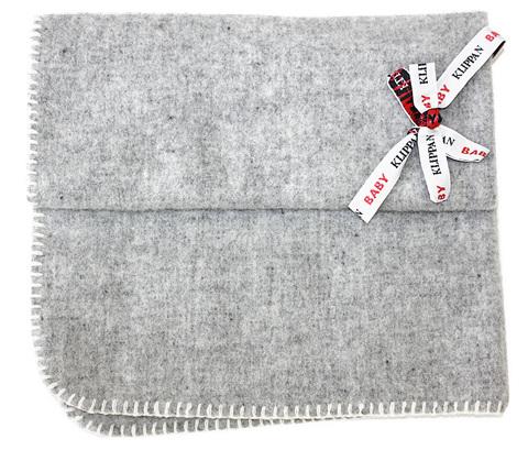 Одеяло, KLIPPAN, Шерсть, Светло-серый, 65 х 90 см