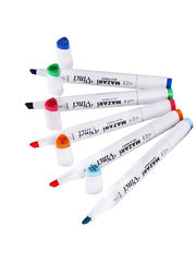 Mazari Vinci набор маркеров для скетчинга 24 шт двусторонние спиртовые пуля/долото 1.0-6.2 мм (осенние)
