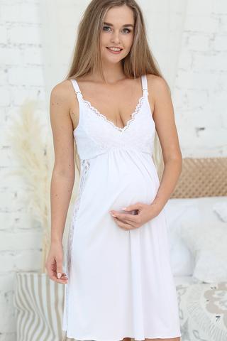 Сорочка для беременных и кормящих 12730 белый