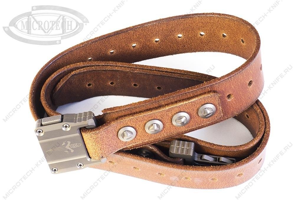 Ремень Marfione APIS Brown Buffalo Titanium Bronzed - фотография