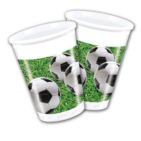 1502-2015 Стаканы Футбол зеленый, газон, 8 штук