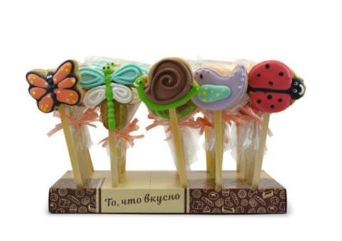 Мини-печенье имбирное на палочке