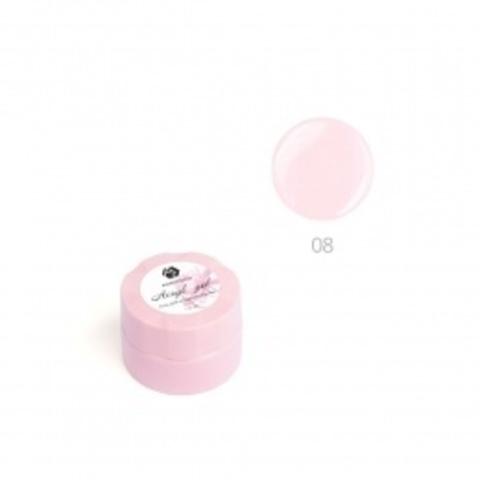 Акригель для наращивания ногтей ADRICOCO №08 камуфлирующий классический розовый (10 мл.)