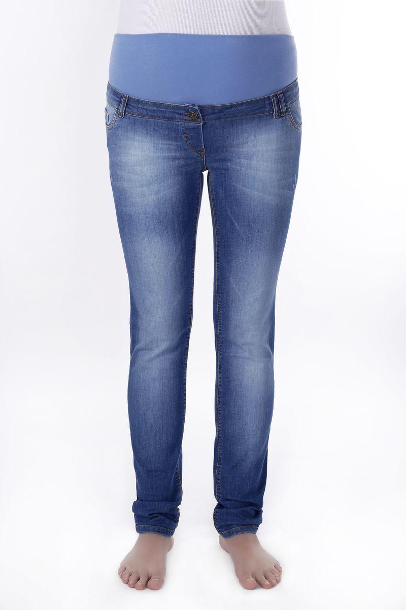 Фото джинсы для беременных (SLIM) MAMA`S FANTASY, зауженные, средняя посадка, высокая трикотажная вставка от магазина СкороМама, синий, размеры.