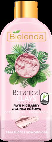 BOTANICAL CLAYS веганская мицеллярная вода с розовой глиной 500 мл