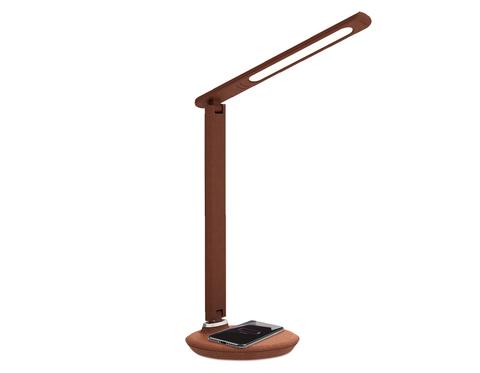 Светодиодная настольная лампа с беспроводной зарядкой DE522 BR коричневый LED 3000-6400K 8W