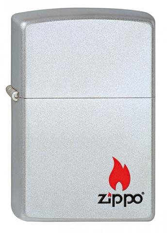 Зажигалка Zippo с покрытием Satin Chrome, латунь/сталь, серебристая, матовая, 36x12x56 м