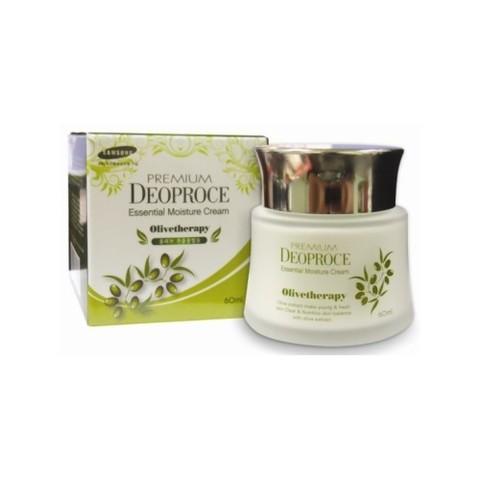 Увлажняющий крем с маслом оливы для сухой кожи  Deoproce Premium Olivetherapy Essential Moisture Cream