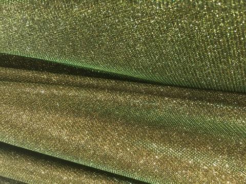Бифлекс блестящий - золотой с зеленым переливом