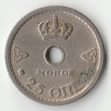 1927 SR1854 Норвегия 25 эре оре