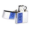 Зажигалка Zippo Classic, латунь с покрытием High Polish Chrome, серебристый/синий, 36х12x56 мм
