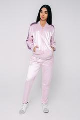 Спортивный костюм розовый с полосой купить