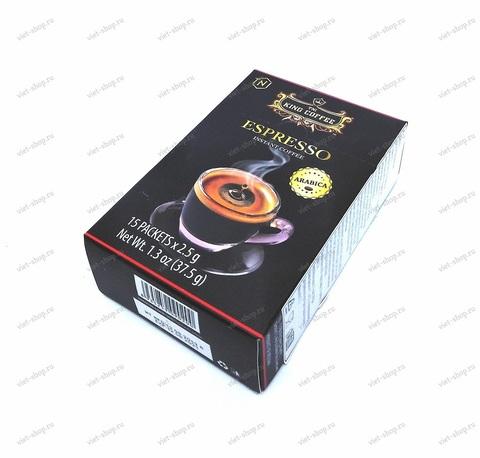 Вьетнамский растворимый кофе King Coffee Espresso, 15 пак.