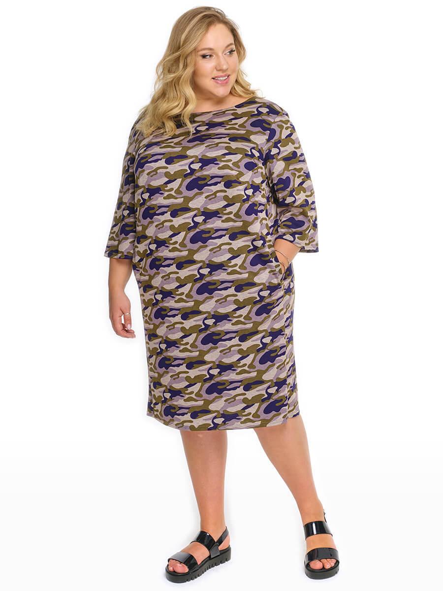 Трикотажное платье туника для полных девушек