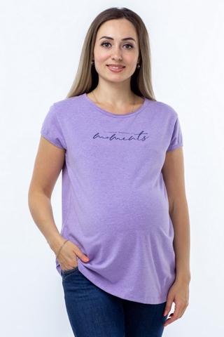 Футболка для беременных 10361 лиловый