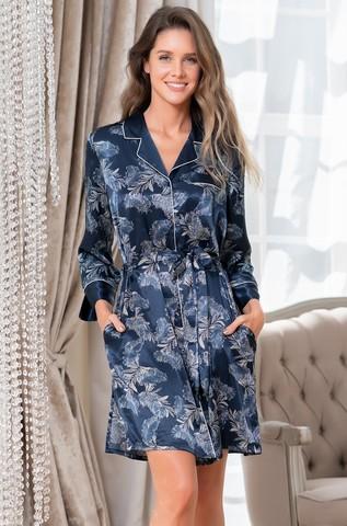 Короткий халат на пуговицах MIA-Amore VANESSA ВАНЕСА 3777