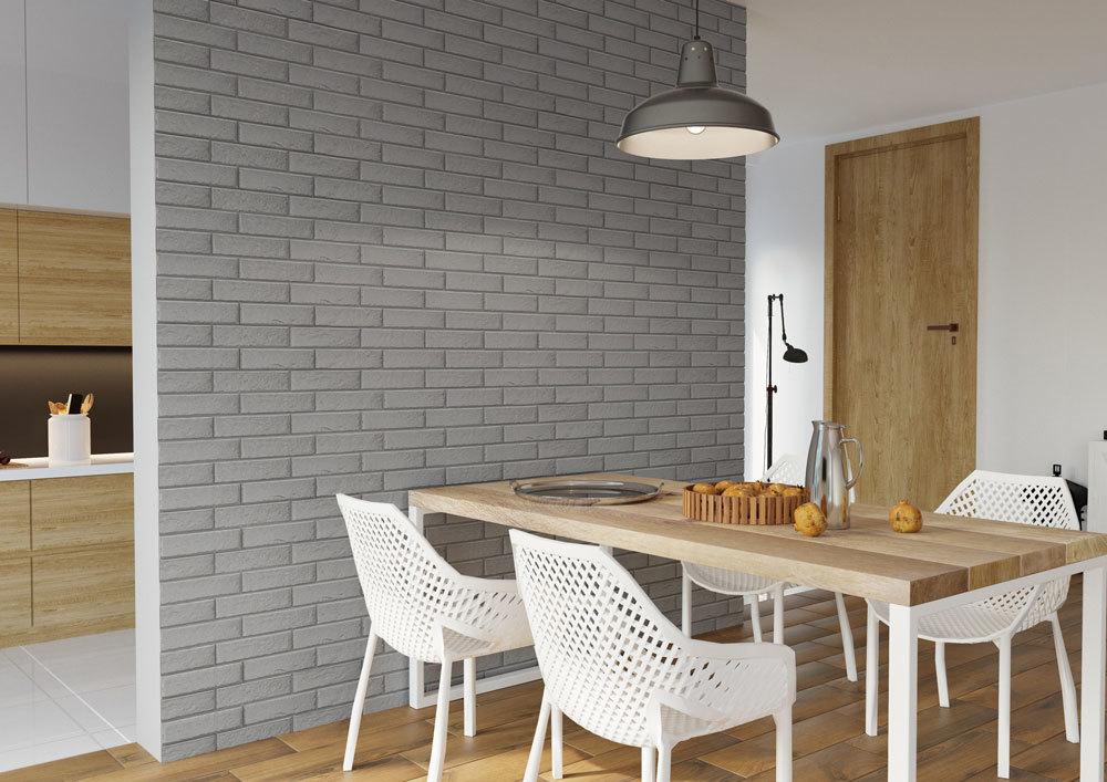 Cerrad Foggia Gris, серая - Клинкерная плитка для фасада и внутренней отделки