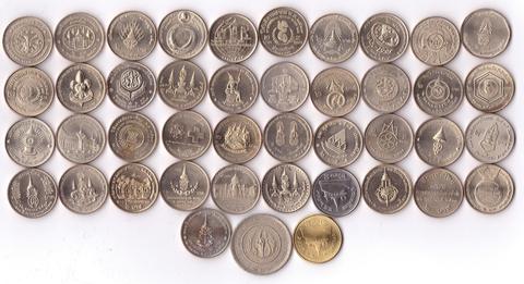 Набор из 43 монет 2 бат - Таиланд