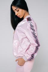 Спортивный костюм розовый с полосой Nadya