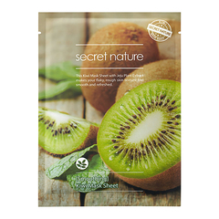 Тканевая маска для лица с Киви, SECRET NATURE, Smoothing Kiwi  Mask Sheet, 25г