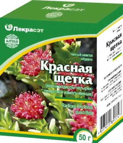 Красная щетка (Родиола четырехлепестная) корень 50 г.