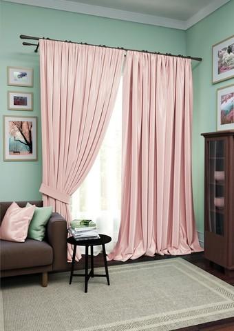 Комплект штор Авери с тюлем розовый