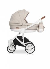 Детская коляска RIKO NATURO 2в1 цвет 02 коричневый-бежевый