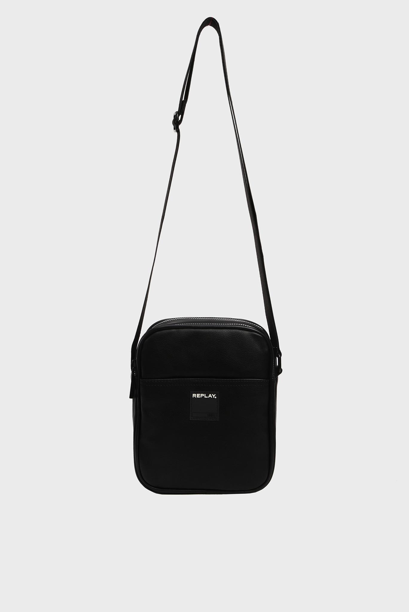Мужская черная сумка через плечо Replay