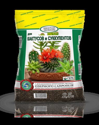 БиоГрунт для кактусов и суккулентов 2.5л